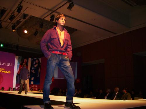 Young Nepali male model on the Hyatt runway
